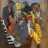 Thelonious Monk and his Sidemen Giclée-tryk af Marsha Hammel
