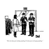 """This isn't about your stealing anything. It's about your not buying anyth…"" - New Yorker Cartoon Premium Giclee Print by Drew Dernavich"