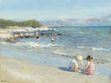 Playing by the Sea Giclee Print by Paul Brown
