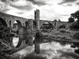 Old Bridge with Reflection Photographic Print by by gargomo