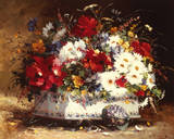 Still Life of Spring Flowers Giclee Print by Eugene Henri Cauchois