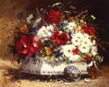 Still Life of Spring Flowers Giclee Print by Eugene Henri Cauchois