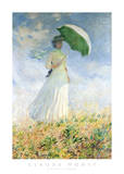 Woman With A Parasol Poster par Claude Monet