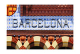 Barcelona Sign Poster by  nito