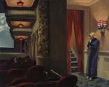 Edward Hopper - New York Movie, 1939 Digitálně vytištěná reprodukce