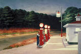 Edward Hopper - Gas, 1940 Digitálně vytištěná reprodukce