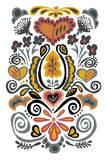 Folk Dreams I Poster by  Callie Crosby and Rebecca Daw