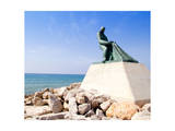 Fisherman Statue in Salou Beach at Catalonia Spain Posters by  holbox