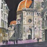 Santa Maria del Fiore, Florence Giclée-tryk af Susan Brown