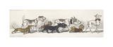 Dirty Dogs Of Paris III Premium Giclee Print by Boris O'Klein