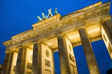 Brandenburg Gate at Night , Berlin Photographic Print by NejroN Photo