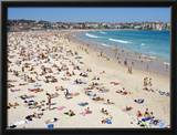 Summer Holiday Crowds on Bondi Beach Framed Photographic Print by Oliver Strewe