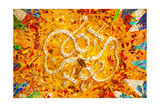 Antoni Gaudi Ceramic Mosaic Design, Guell Park, Barcelona, Catalonia, Spain Print by  BILLPERRY