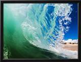 Shorebreak wave Framed Photographic Print by Mark A. Johnson