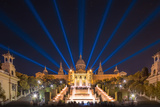 Night View of Magic Fountain in Barcelona Photographic Print by  boule