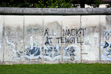 Berlin Wall Memorial with Graffiti Front View, Good for Background. the Gedenkstatte Berliner Mauer Poster by PHOTOCREO Michal Bednarek