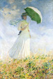 Woman With A Parasol Impression giclée par Claude Monet