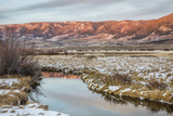 Dusk over Canadian River and Medicine Bow Mountains in North Park near Walden, Colorado, Late Fall Photo by  PixelsAway
