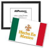 Hecho En Mexico Made in Mexico Art Print Poster Pósters