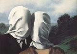 Les Amants (The Lovers) Plakater af Rene Magritte