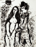 Clown in Love Collectable Print by Marc Chagall