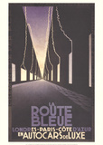 La Route Bleue Collectable Print by Adolphe Mouron Cassandre