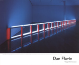 An Artificial Barrier Blue, Red and Blue Fluorescent Light (to Flavin Starbuck Judd) Poster av Dan Flavin