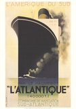 L'Atlantique Reproductions de collection par Adolphe Mouron Cassandre