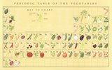 Periodic Table of the Vegetables Posters by Naomi Weissman