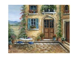 Romantic courtyard Photographic Print by Marilyn Dunlap