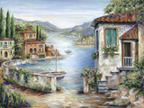 Tuscan Villas on the Lake Photographic Print by Marilyn Dunlap