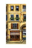 Parisian Bistro and Butcher Shop Reproduction photographique par Marilyn Dunlap