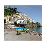 Amalfi Beach Photographic Print by Marilyn Dunlap