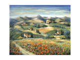 Tuscan Villa and Poppies Photographic Print by Marilyn Dunlap