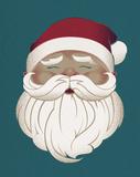 Santa in Blue Posters by Rebecca Peragine