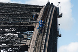 Tourists Strapped Together for Climb to Top of Sydney Harbour Bridge, Sydney, New South Wales Photographic Print by Green Light Collection