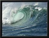 Shorebreak Waves in Waimea Bay Framed Photographic Print by Rick Doyle