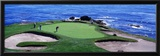 Golfers Pebble Beach, California, USA Framed Photographic Print by  Panoramic Images