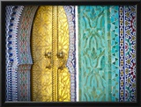 Royal Palace Door, Fes, Morocco Framed Photographic Print by Doug Pearson
