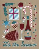Vintage Tis the Season Posters by Rebecca Peragine
