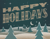 Vintage Happy Holidays Prints by Rebecca Peragine