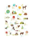 Alphabet (english) Poster par Rebecca Peragine