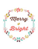 Merry and Bright Wreath Prints by Rebecca Peragine
