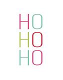 Mod Ho Ho Ho Print by Rebecca Peragine