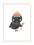 Boho Owl Posters by Rebecca Peragine