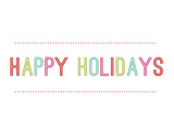 Mod Happy Holidays Prints by Rebecca Peragine