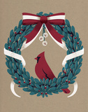 Vintage Holiday Wreath Art by Rebecca Peragine
