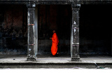 Orange on Angkor Photographic Print by Olivier De la Fresnoye