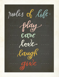 Rules of Life Print by Rebecca Peragine