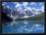 Moraine Lake in the Valley of Ten Peaks, Canada Framed Photographic Print by Diane Johnson